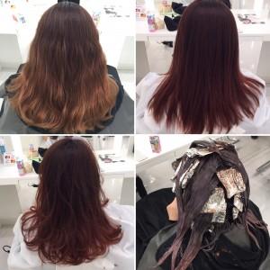 【髪が伸びたのに色綺麗を目指せ】眠りのハイライトグラデーション 3回目