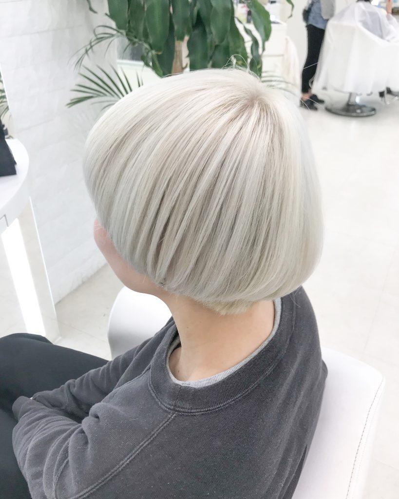 【要ブリーチ】ダメージ必要最低限で作るホワイトヘアカラー